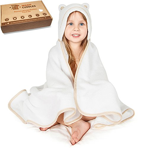 Premium Toddler Towel with Hood | Organic Bamboo Toddler Hoo