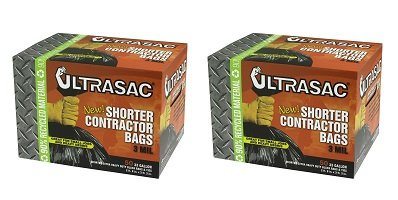 AlufプラスチックUltrasac Heavy Dutyプロフェッショナル品質Short Contractor Trashバッグ、33ガロン容量、長39