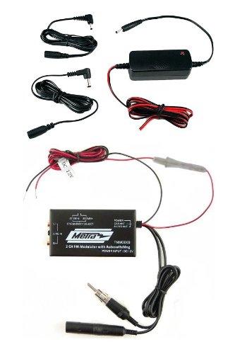 SIRIUS XM Radio FM Modulator and 5V Power Adapter Bundle (Sirius Xm Modulator Radio Fm)