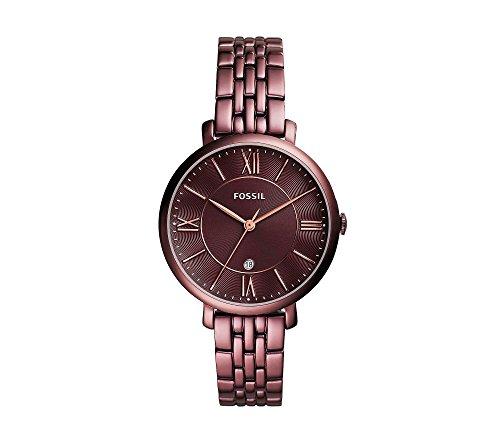 Fossil Women's 36mm Jacqueline Wine Stainless Steel Watch