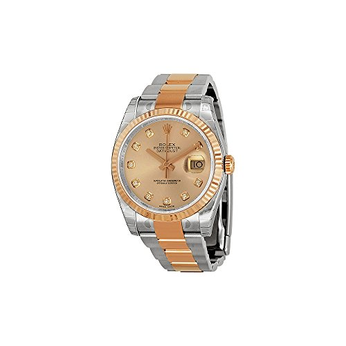 Rolex Oyster Perpetual Datejust 36 Pink Dial Stainless Steel and 18K Everose Gold Rolex Oyster Automatic Ladies Watch 116231PDO