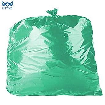 eCrown - Bolsas de basura (200 unidades), color verde ...