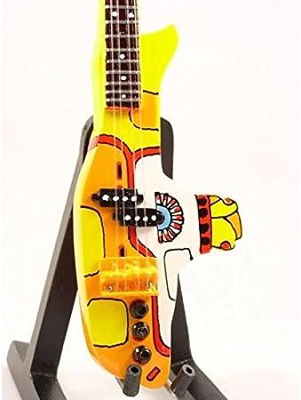 Mini Guitarra BEATLES AMARILLO SUBMARINO Figurilla Presente ...