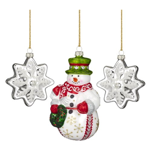 (Marquis By Waterford Wintertime Snowman Figurine, Set of 3)