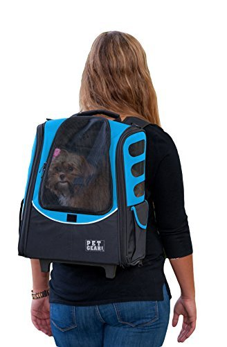 Pet Gear I-GO2 Escort Roller Backpack for cats and dogs, Ocean Blue by Pet Gear