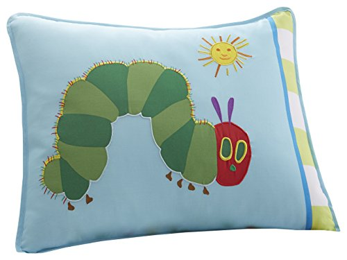 Wildkin Pillow Sham, 100% Cotton Pillow Sham, Bold Patterns Coordinate with Other Bedding and Room Décor – The Very Hungry Caterpillar