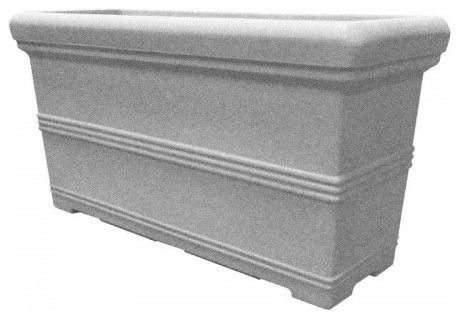 American Essence EP-AETAC-CEM-48 48 x 18 x 24 in. Tacoma Rectangle Planter44; Cement