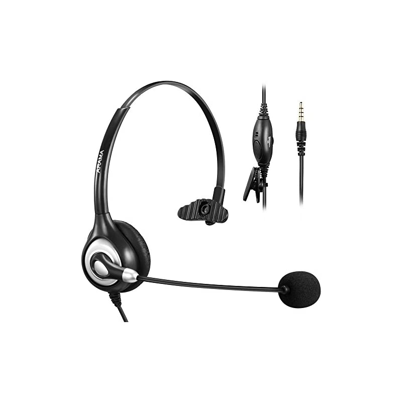 Arama Mono Cell Phone Headset with Noise