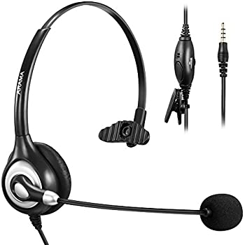 Coodio 3 5mm Smartphone Over-the-Head Headset [Swivel Boom