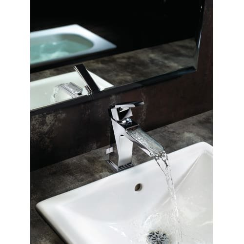Delta Faucet Delta Ara Single Handle Single Hole Lavatory Faucet ...