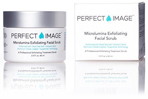 NEW Microlumina Exfoliating Facial Scrub - Enhanced with Dead Sea Salt | Kaolin| Volcanic Sand | Acai | Argan Oil | Al Oxide Crystals & Superbrite Tech.