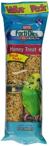 Kaytee Pet Products BKT100502940 Forti-Diet Pro Health Honey Parakeet Treat Stick, 7-Ounce