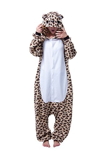 Molly Unisex Adult Kigurumi Homewear Pajamas Cosplay Costume Sleepwear Size S (Mens Leopard Onesie)