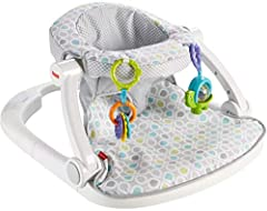 The Fisher Price Sit Me Up Floor Seat is cute, convenient, and it helps support little ones as you sit them up to interact with the world around them (Hello, world.). The soft fabrics and wide base help little ones relax in cushy comfort. And...