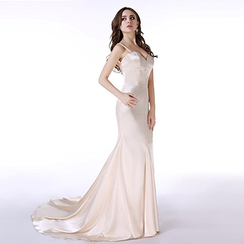 Mermaid White Party Long Off Evening Dress BessWedding Prom Women's Sweetheart Beads Gowns qSUUI1