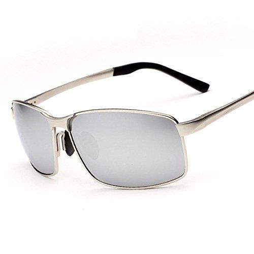 sol retrovisor gafas plata recubrimiento hombre de de de macho color gafas TIANLIANG04 para polarizadas La sol cristal masculina moda del Argento qxtgHnpOaw