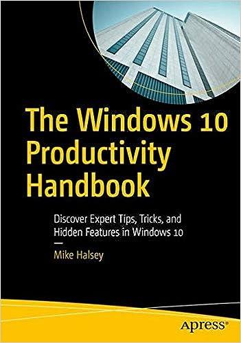 The Windows 10 Productivity Handbook: Discover Expert Tips, Tricks, And Hidden Features In Windows 10 Epub Descargar