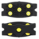 GogoForward 1 Pair 5 Stud Anti Slip Snow Ice Climbing Spikes Grips Crampon Cleat Shoes Cover
