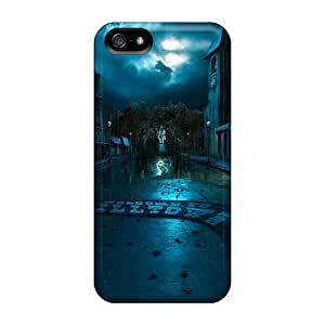 Defender Case With Nice Appearance (stormy Scene In A Town) For Iphone 5/5s