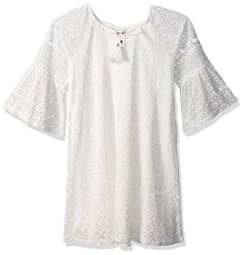 Buy bell sleeve crochet dress - 5