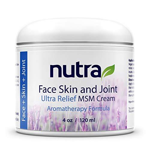 (Nutra Face, Skin & Joint, Pain Relief MSM Cream - Organic - Vegan Non-GMO Plant Base Clean Formula, Moisturizer)