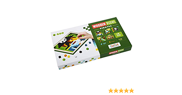 Great Gift for Boys and Girls Educational Toys for Kids from 5 Years Old Eco-Friendly Wooden Toy with Brightfull Colorful Pixels. Wise Elk Wooden Mosaic Pixels Nature 600 pcs