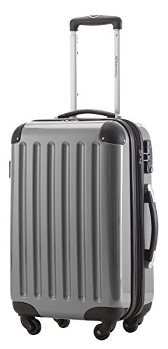 (HAUPTSTADTKOFFER - Alex - Carry on luggage Suitcase Hardside Spinner Trolley Expandable 20¡° TSA Silver)