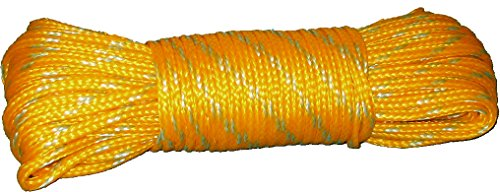 Promar NE-100 Poly Crab Line, 100-Feet, 1/4-Inch Diameter, Yellow/Green (Polyethylene Rope)