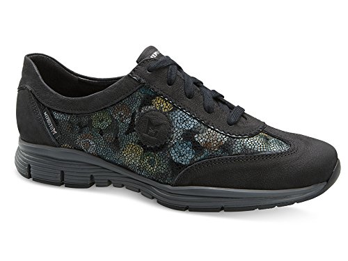 Mephisto Womens Yael Oxford Black Greta/Navy Byzance/Black Ice