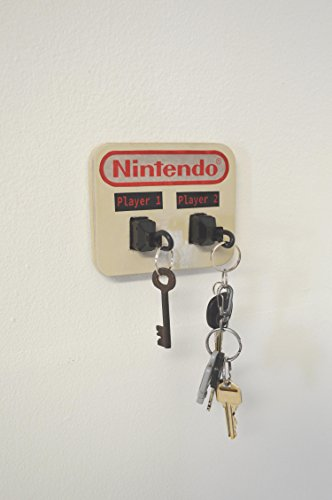 Nintendo NES Plug Key Chain Holder Organizer - Player 1 and Player 2 - Real controller Plugs