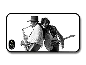 Bruce Springsteen and Clarence Clemons Saxophone Black and White case for iPhone 4 4S A5612