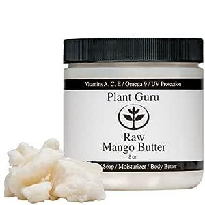 Raw Mango Butter 8 oz. 100% Pure Natural For Skin, Face, Hair Care (HDPE Food Grade Jar)