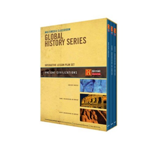 The History Channel - Multimedia Classroom Global History Series : Ancient Greece , Rome: Engineering an Empire , Egypt: Engineering an Empire - Ancient Civilzations Lesson Plan Set - 6 Disc Set - 3 Dvd's & 3 Cd-roms