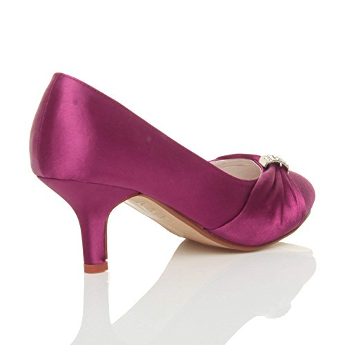 Violette talon escarpins mariée moyen Femmes mariage chaussures Pourpre bobine soirée élégant de Ajvani qw5PvCa4