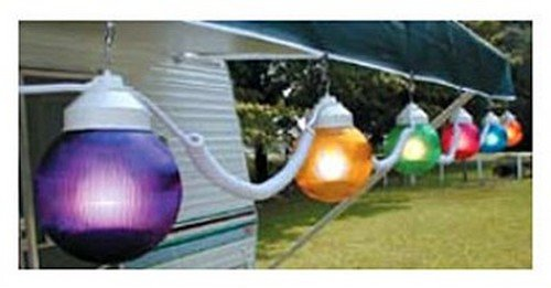 RV Trailer Camper Outdoor Living 6 Light Globes Multi-Color Polymer 1661-00523