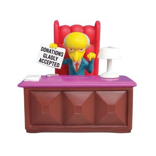 (The Simpsons Mr Burns Figural Coin Bank)