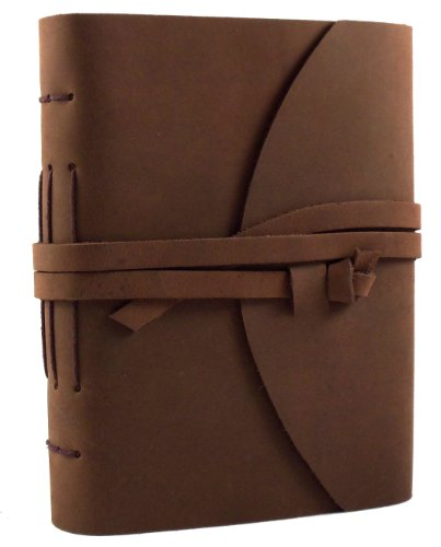 Genuine Leather Legacy Journal by Rustic Ridge - Vintage Leather Diary Sketchbook - 400 Pages - 5