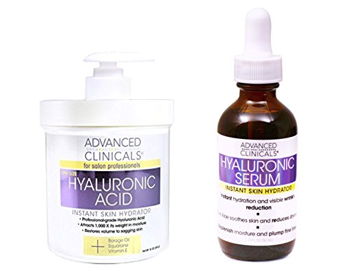 Advanced Clinicals Hyaluronic Acid Cream and Hyaluronic Acid