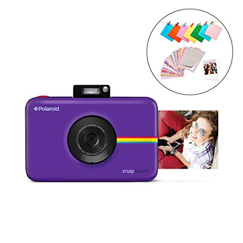 "Polaroid SNAP Touch 2.0 – 13MP Portable Instant Digital Camera w/Built-In Bluetooth, LCD Touchscreen Display, 1080p Video, ZINK Zero Ink Technology & NEW App – Prints 2×3"" Sticky-Back Prints – Purple"