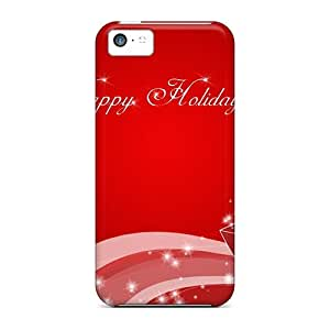 New Arrival Premium 5c Case Cover For Iphone (happy Holidays Christmas)