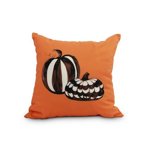 OKSLO The Holiday Aisle Maser Pumpkin Duo Halloween Throw Pillow
