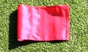 Golf - Putting Green - (1) 30'' Practice Green Pin Marker w/ Easy Grab Knob and Ball Lifter Disk + (1) Solid RED Colored Jr Flag Included