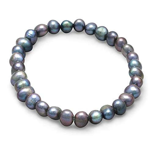 - BillyTheTree Jewelry Peacock Simulated Pearl Stretch Bracelet Designer Unique
