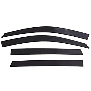 Auto Ventshade 994064 Low Profile Dark Smoke Ventvisor Side Window Deflector, 4-Piece Set for 2019 Ram 1500 Crew Cab