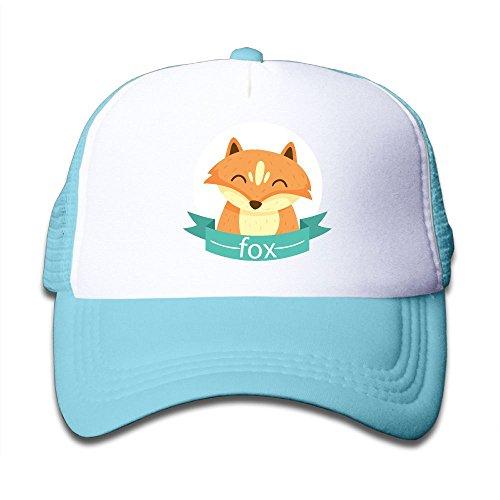 Fox Cartoon children Girl Adjustable Mesh Fitted Cap Breathable Mesh Back Caps supplies