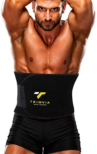 TRIMVIA Waist Trimmer for Women and Men, Sweat Band Waist Trainer, Waist Shaper, Waist Cincher 3