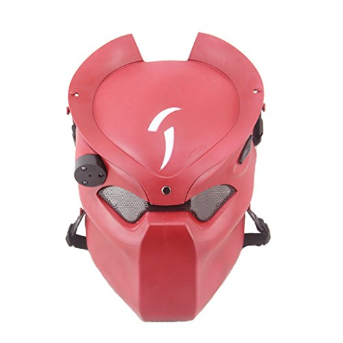 Coxeer® Outdoor CS Games Costume Mask Ventilate Protective Face Mask with Infrared Lamp for Halloween Masquerade Cosplay