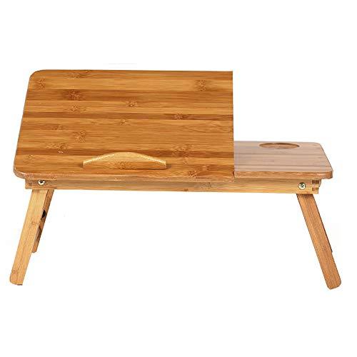 LFF- Soporte de Mesa Ajustable de Escritorio del Ordenador portátil con cajón Escritorio de Estudio Plegable de bambú