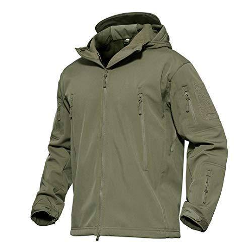 Veste Softshell Tactique Hommes d'hiver Camouflage armée Combat Veste à Capuche Airsoft Vestes Militaires Randonnée 2