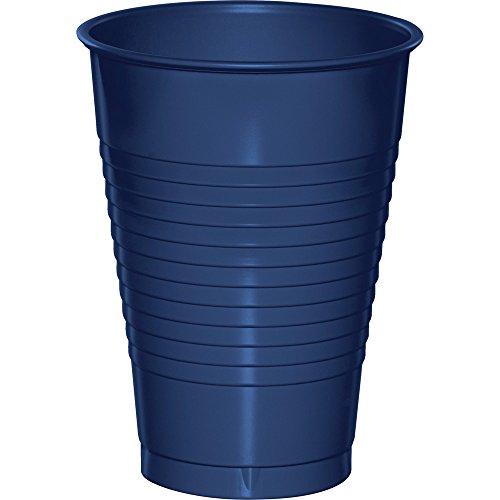 Creative Converting 28113771 Premium Plastic 12 oz Cups, Navy